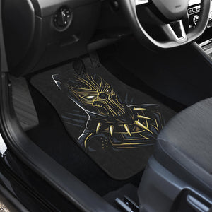 Black Panther Front And Back Car Mats