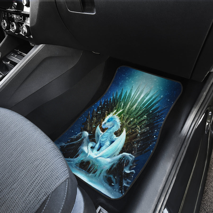 White Walker Ice Dragon Car Mats