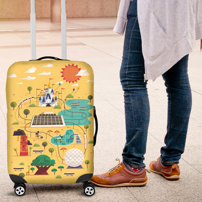 Map Luggage Covers