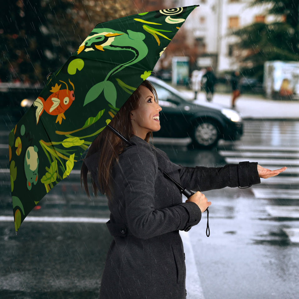 Pokemon Green Glass Umbrella