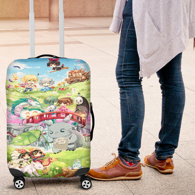 Chibi Ghibli Studio Luggage Covers