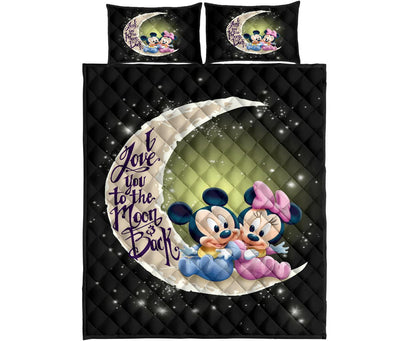 Mickey Couple To The Moon Quilt Bed Sets