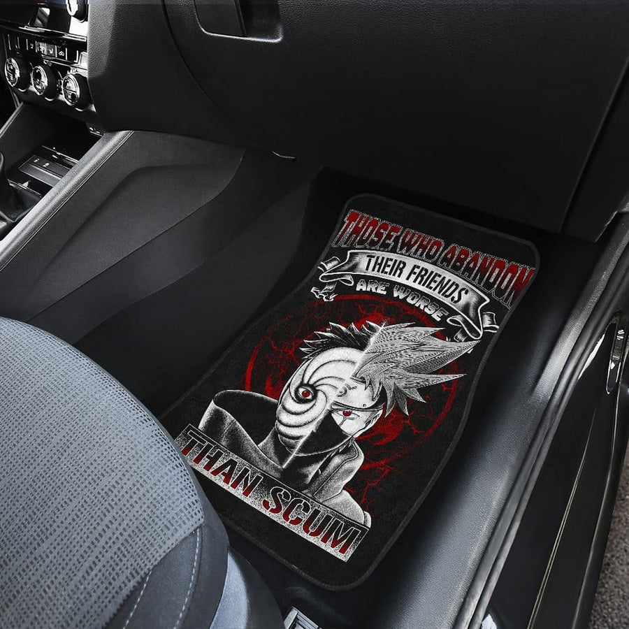 Kakashi Obito Front And Back Car Mats (Set Of 4)