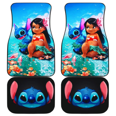 Lilo And Stitch Front And Back Car Mats (Set Of 4) - Car Mats