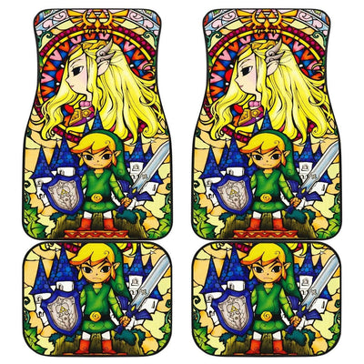 Link Legend Of Zelda Front And Back Car Mats (Set Of 4) - Car Mats