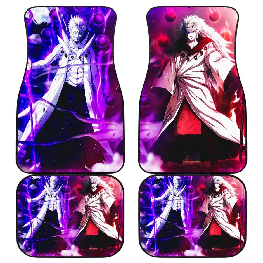 Madara And Obito Front And Back Car Mats (Set Of 4)
