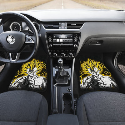 Majin Vegeta Front And Back Car Mats (Set Of 4) - Car Mats