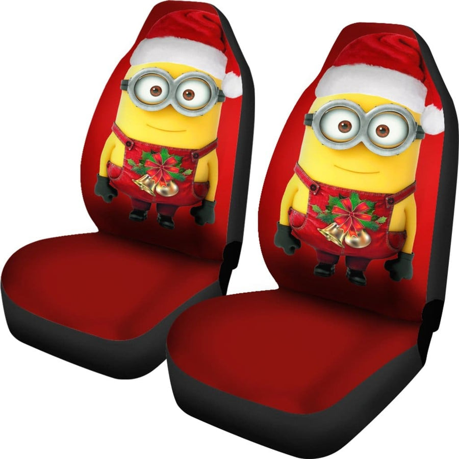 Marry Christmas Minions Car Seat Covers - Amazing Best Gift Idea