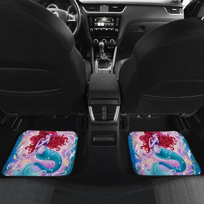 Mermaid Front And Back Car Mats (Set Of 4) - Car Mats
