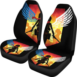Mikasa Attack On Titan Car Seat Covers - Car Seat Covers
