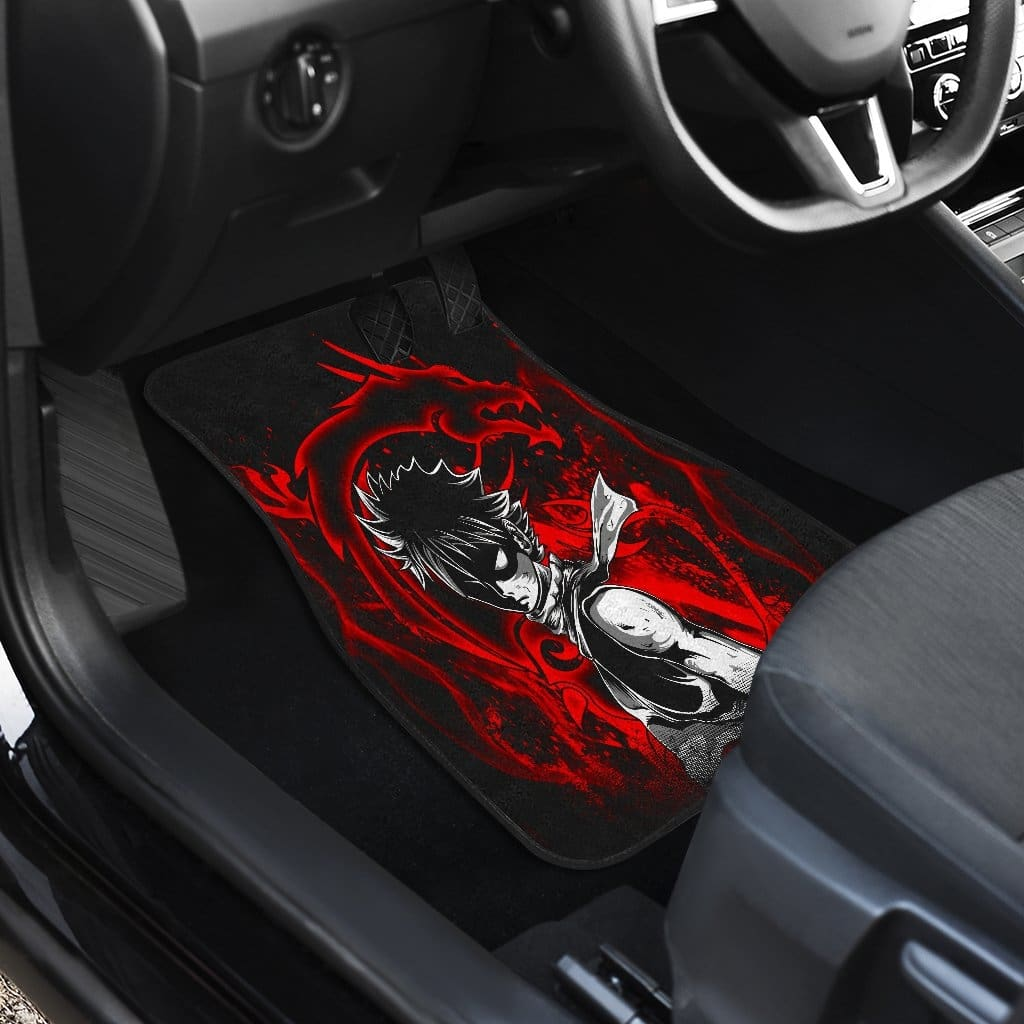 Natsu Dragneel Front And Back Car Mats (Set Of 4) - Car Mats