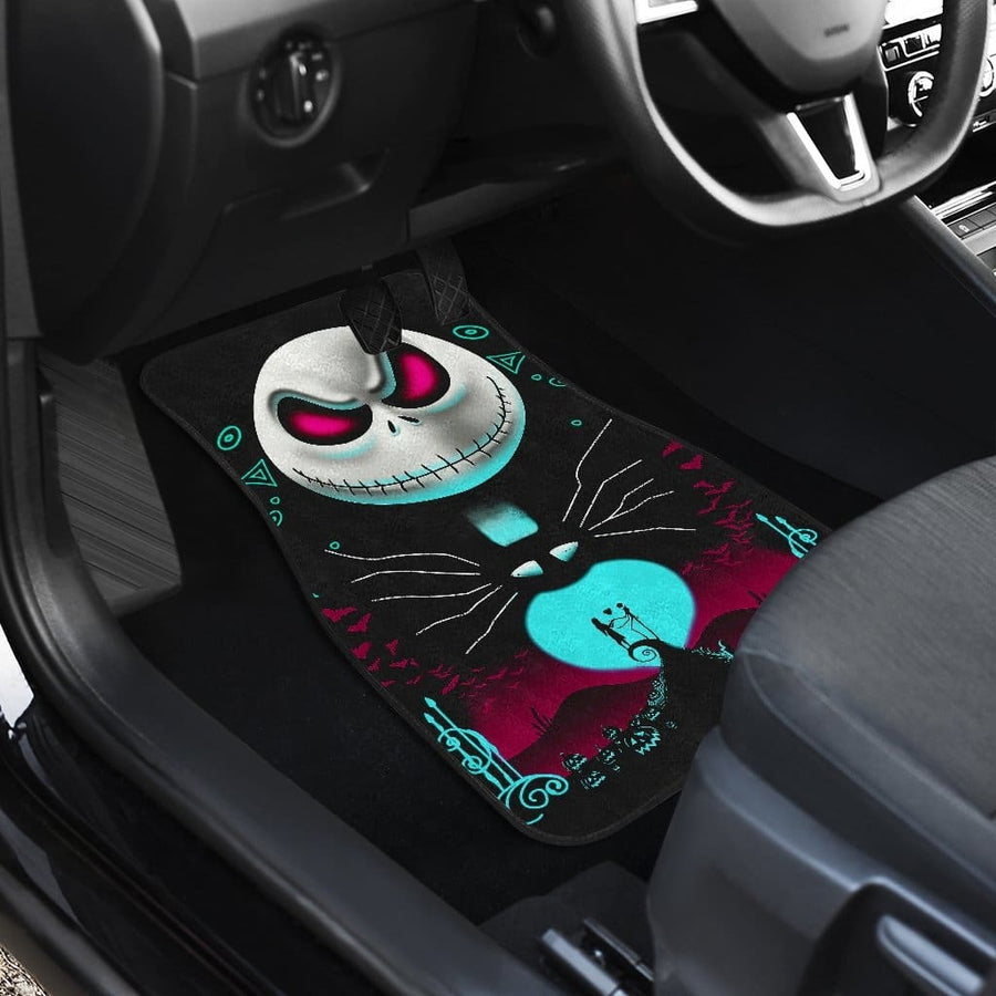 Nightmare Before Christmas Front And Back Car Mats (Set Of 4)