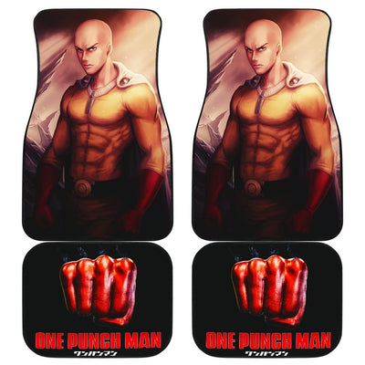 One Punch Man Front And Back Car Mats (Set Of 4) - Car Mats