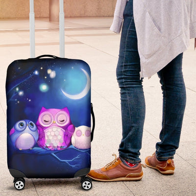 Owl Cute Night Luggage Covers - Luggage Covers
