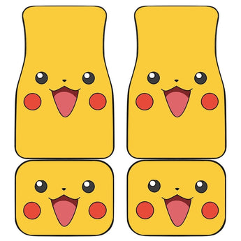 Pikachu Front And Back Car Mats (Set Of 4) - Car Mats