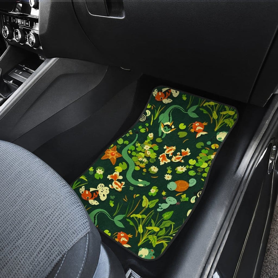 Pokemon Grass Type Front And Back Car Mats
