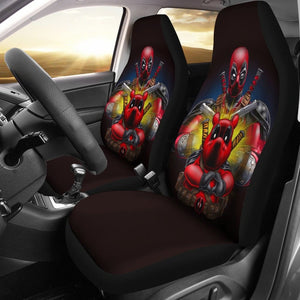 Pooh X Deadpool Car Seat Covers - Car Seat Covers