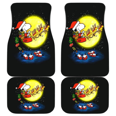 Snoopy Christmas Front And Back Car Mats (Set Of 4) - Car Mats