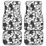 Snoopy Front And Back Car Mats 2 (Set Of 4) - Luggage Covers