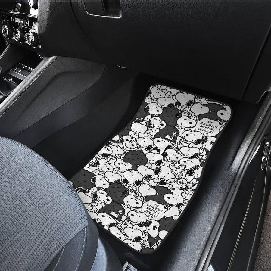Snoopy Front And Back Car Mats 2 (Set Of 4)