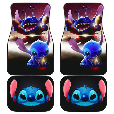 Stitch Front And Back Car Mats (Set Of 4) - Car Mats