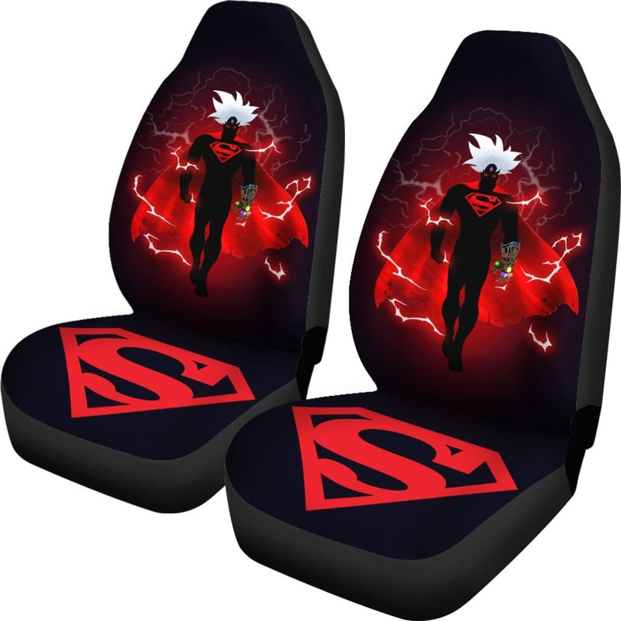 Superman Ultra Instinct Infinity Gauntlet 6 paths Car Seat Covers - Amazing Best Gift Idea