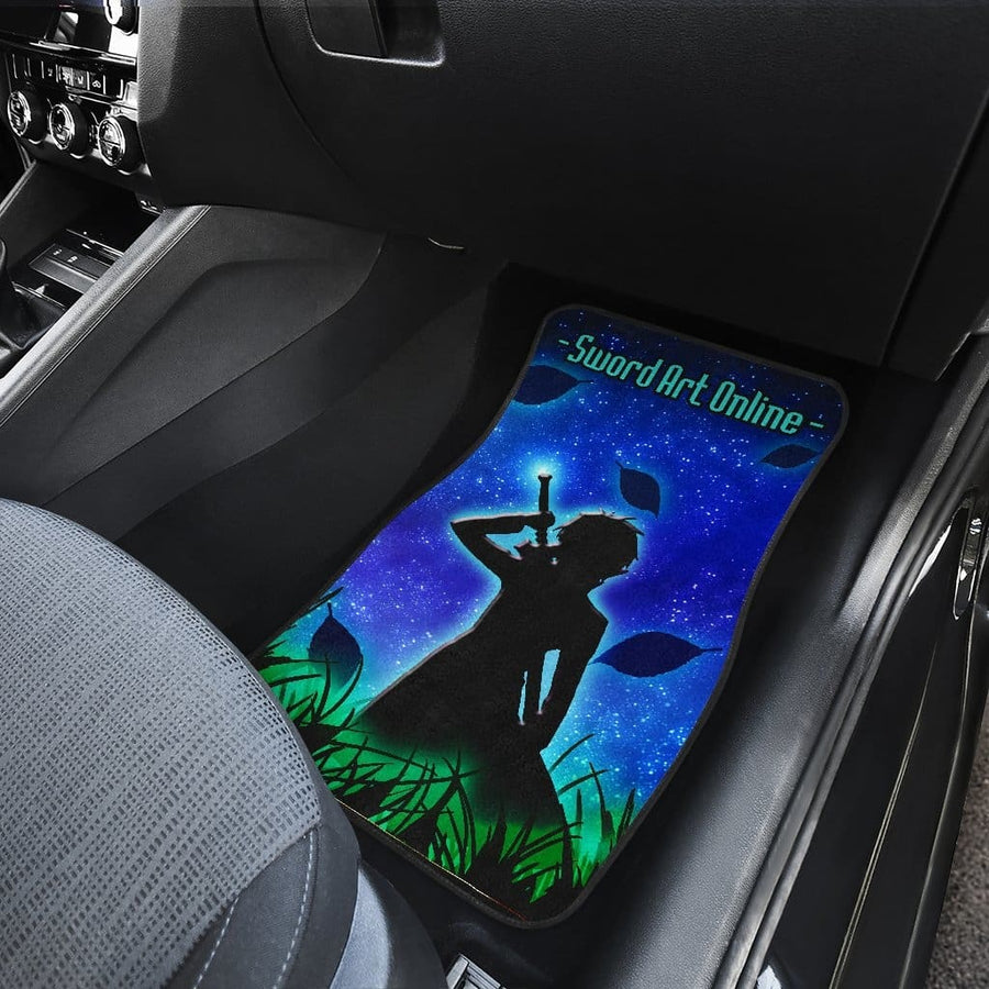 Sword Art Online SAO Kirito Front And Back Car Mats (Set Of 4)