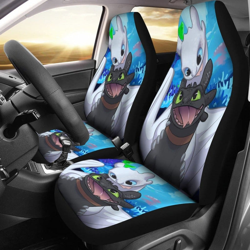Toothless And The Light Fury Car Seat Covers