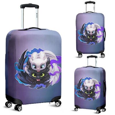 Toothless And The Light Fury Luggage Covers - Luggage Covers