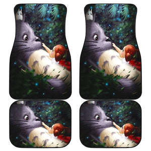 Totoro Relax Front And Back Car Mats (Set Of 4) - Car Mats
