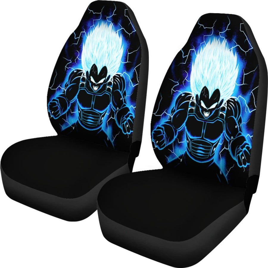 Vegeta Ultra Blue Car Seat Covers 1 - Amazing Best Gift Idea