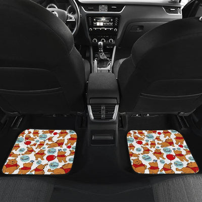 Winnie The Pooh Front And Back Car Mats 7 (Set Of 4) - Car Mats