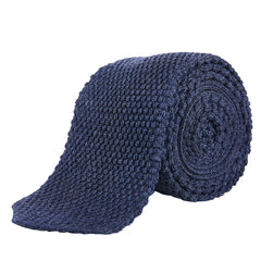Rosi Collection Strickkrawatte blau