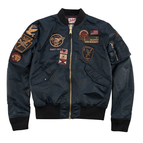 Schott NYC Bomberjacke mit Patches