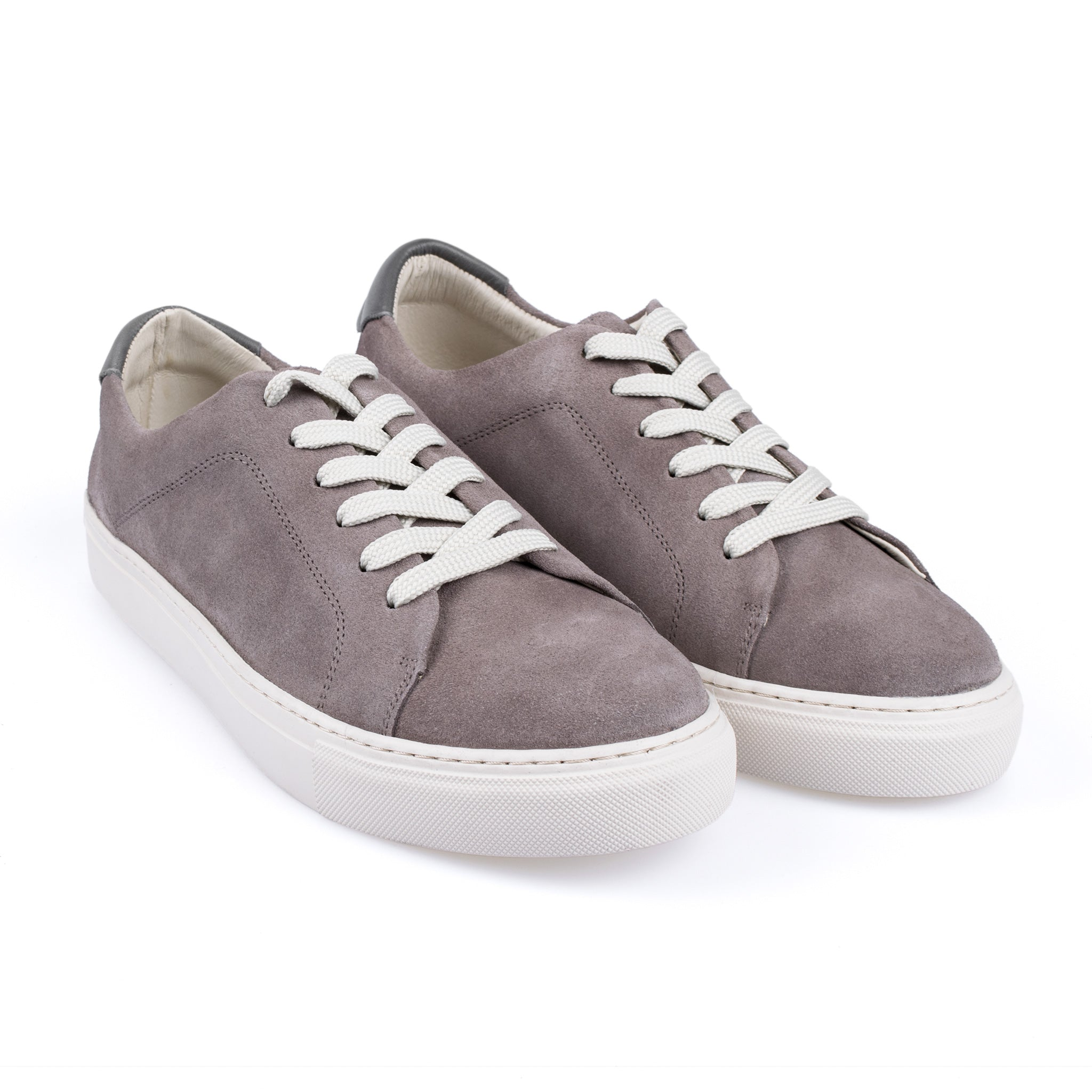 Garment Project New Classic Lace Veloursleder Sneaker grau
