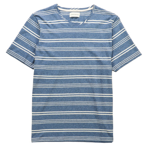 Oliver Spencer Conduit Austen T-Shirt blau-weiss gestreift