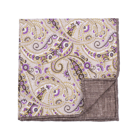 Rosi Collection Einstecktuch Paisley grün