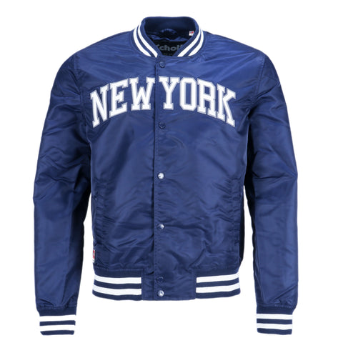 Schott NYC Stadium Bomberjacke New York blau