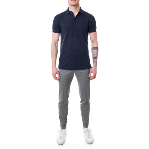 Sunspel Polo-Shirt blau