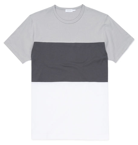 Sunspel T-Shirt Color-Block grau
