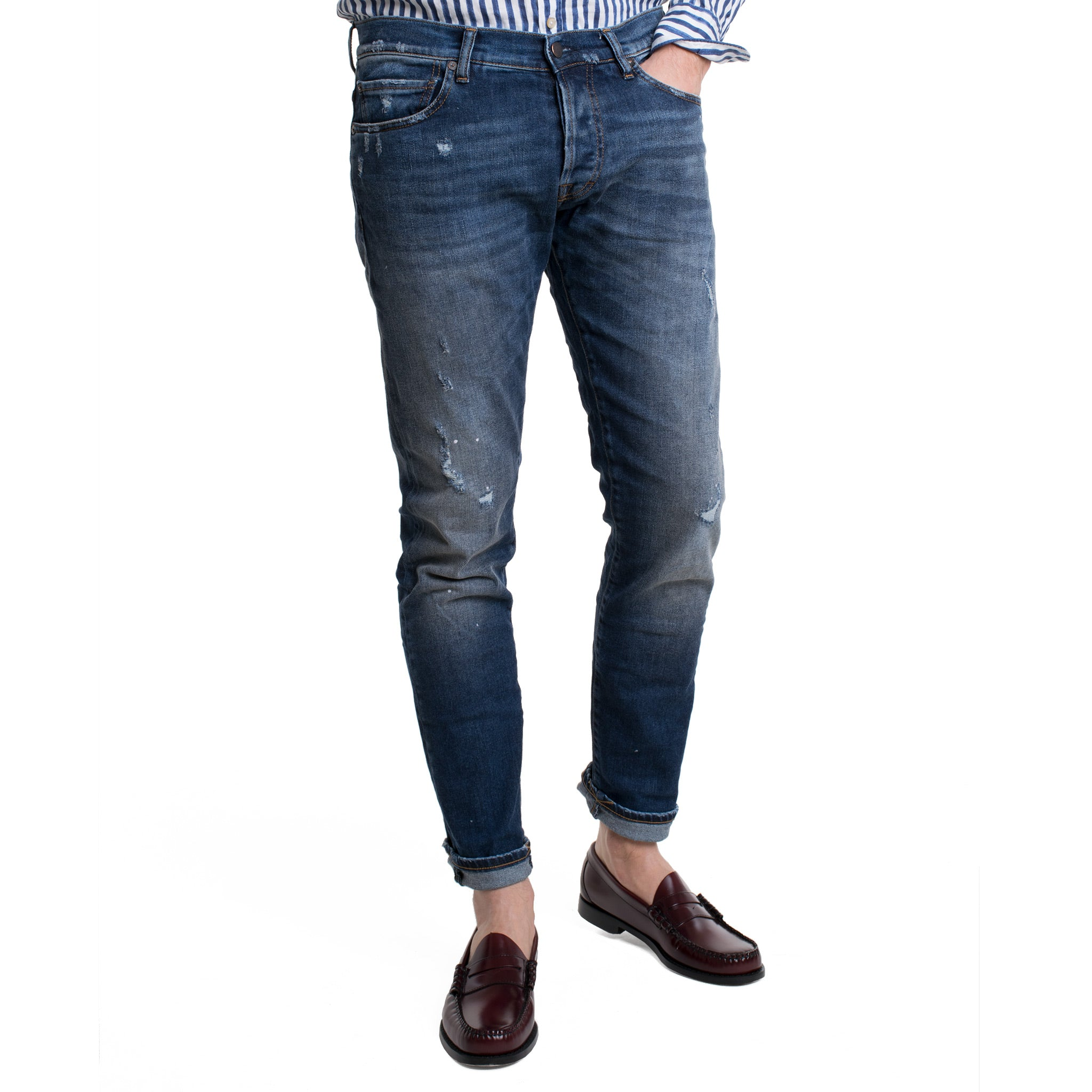 TheNim Jeans Slim fit im Destroyed Look