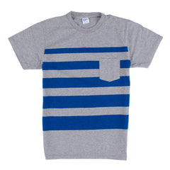 Velva Sheen Wide Wave Stripe T-Shirt grau
