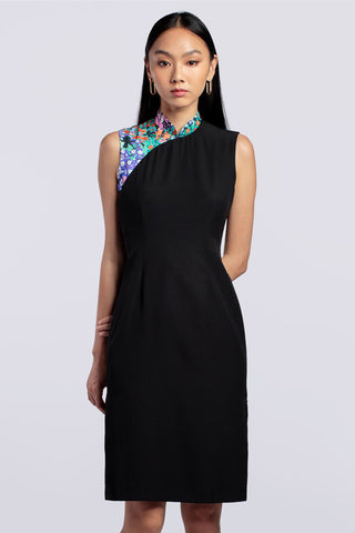 Maggie Cheongsam - Black Bouquet