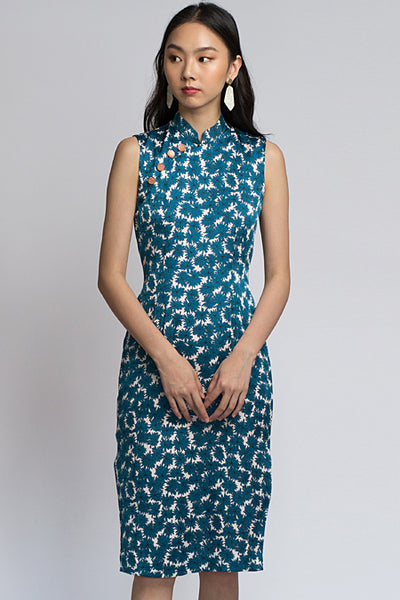 Nancy Cheongsam - Blue