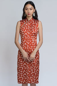 Nancy Cheongsam - Rust (Last Piece L)