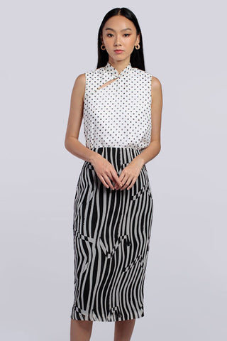 Alex Top & Skirt Set - Polka x Stripe