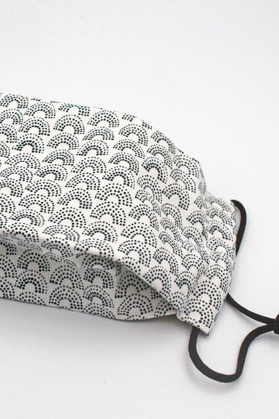 Fabric Mask (Adult) - Dotted Bow