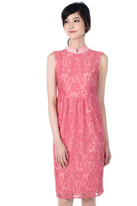 Irene Lace Cheongsam - Pink (FINAL SALE)