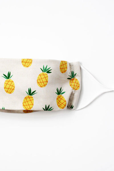 Fabric Mask (Adult) - Pineapples