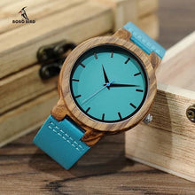 BOBO BIRD Men's & Women's Luxury Fashion Genuine Leather Strap Wooden Watch - Divine Inspiration Styles